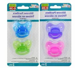 Angel of Mine Silicone Pacifiers 2-ct. Pack. Assorted Colors
