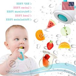 Silicone Pouches Baby Feeding Pacifier Fresh Food Fruits Fee