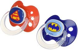 Playtex Silicone Super Friends Binky 2 Piece Pacifiers