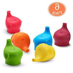 CUKENG Sippy Lids, Toddler/Babies Spill Proof Silicone Snug