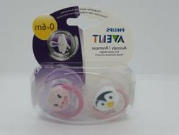 Philips Avent Soother Animal Pacifier, 0-6 Months, 2pk, Pink