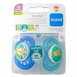 Mam Nature Soother Twin Pack 6m+ Blue