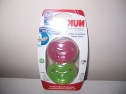 Nuk soothes and calms 0-3 months pink green pacifiers  New
