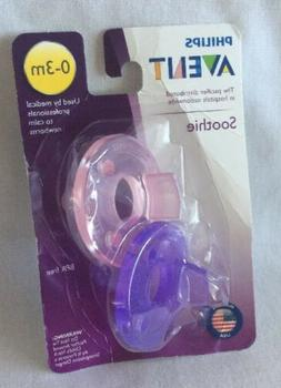 Philips Avent Soothie Pacifier 0-3 Months Pink/Purple 2-Pack