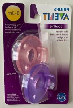 Philips Avent Soothie Pacifier Pink/Purple, 0-3 Months, 2 Co