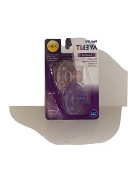 Philips Avent Soothie Pacifier Pink Purple 0 3 Months 2 Coun