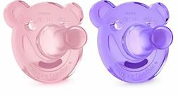 Philips Avent Soothie Pacifier, Pink/Purple, Bear Shape, 2 p