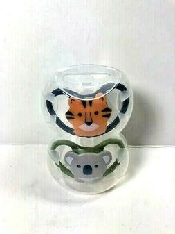 NUK Space Orthodontic Koala Tiger Pacifiers 0-6 Months 2 Cou