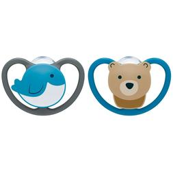 NUK Space Orthodontic Pacifier, 0-6 Months, 2-Piece
