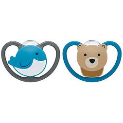 NUK 2-Piece Space Orthodontic Pacifiers, 18-36 Months