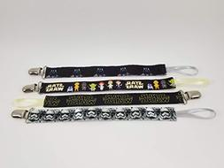 Star Wars Set of 4 Pacifier Clips