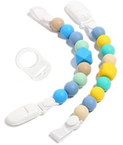 Teether Pacifier Clips -  Silicone Pacifier Holders for MAM,