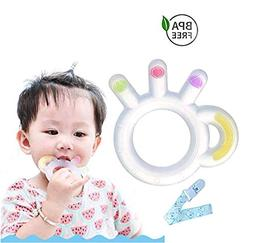 Happy Hours Baby Teething Toys - BPA Free Silicone Teethers
