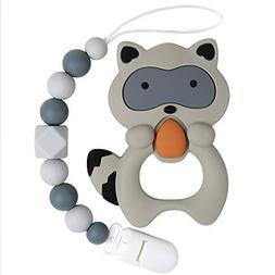 TYRY.HU BPA Free Silicone Teether with Pacifier Clip Holder