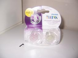 Avent Translucent Pink 0-6 months pacifier new