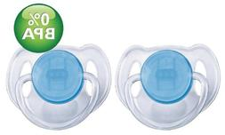 Avent Translucent Toddler Pacifier 6-18 Months 2-Pack, Blue