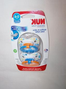 NUK TrendLine Orthodontic Pacifier - 0-6m 2 CT