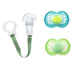 MAM Trends 3 Piece Orthodontic Pacifier with Clip Value Pack