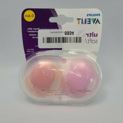 Philips Avent Ultra Air Pacifier, 0-6 months, Pink/Purple, 2