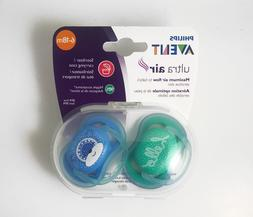 Philips Avent Ultra Air Pacifier, 6-18 months, blue/green, f