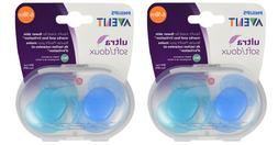 Philips Avent Ultra Soft BPA Free FlexiFit Pacifier, 2 Ct Bl