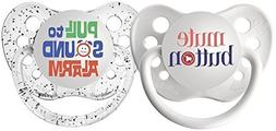 Ulubulu Pacifiers for Unisex, Mute Button and Pull to Sound