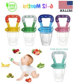 US Baby Feeding Pacifier Fresh Food Fruits Feeder, Weaning