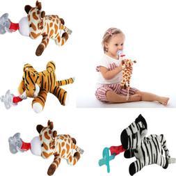 US Cute Baby Pacifier Silicone Pacifiers With Plush Toy tige