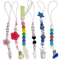 US Infant Baby Pacifier Holder Clip Strap Dummy Nipple Teeth