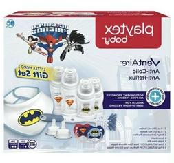 Playtex Baby Ventaire Superhero Baby Bottle Gift Set for Boy