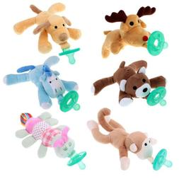 WubbaNub Infant Babys Soothies Dummy Pacifiers with Cuddly P