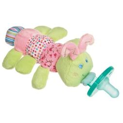 Mary Meyer Wubbanub Plush Pacifier, Cutsie Caterpillar Color