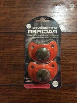 REALTREE Xtra Orthodontic Pacifier BPA Free 2-Pack Camo Oran